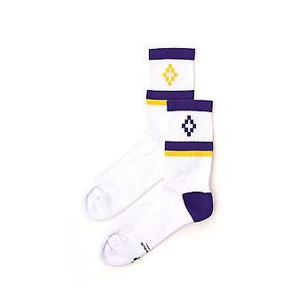 Marcelo Burlon White Cotton Socks