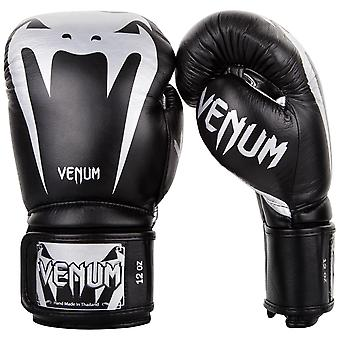 Venum Giant 3.0 Hook and Loop MMA Training Gloves - Black/Silver