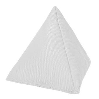 Blanco algodón triangular malabarismo bolsa de frijoles para el juego al aire libre