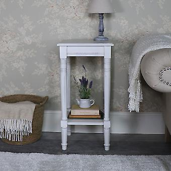 Antique White Square Side Table � Mia Range