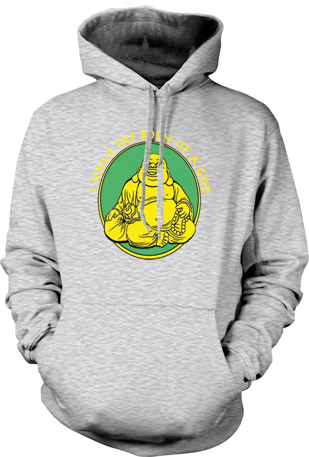 Mens Hoodie - I Have The Body Of A God - Golden Buddah
