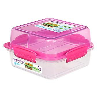 Sistema Square Lunch Stack Square 1.24L, Pink
