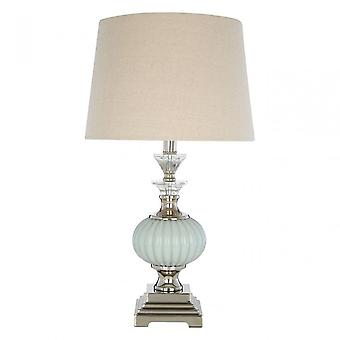 Premier Home Ulyana Table Lamp, Crystal, Glass, Iron, Linen