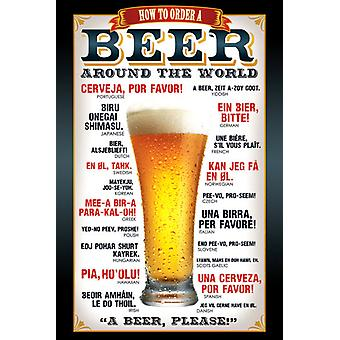 Beer How to order Maxi Poster 61x91.5cm