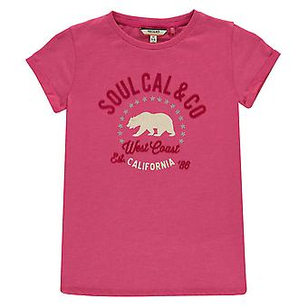 SoulCal Kids Graphic Tshirt T-Shirt Tee Top Short Sleeve Crew Neck Junior Girls