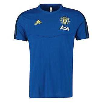 2019-2020 Man Utd Adidas Training Tee (Blue)