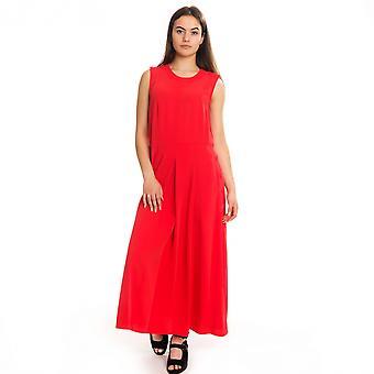 Calvin Klein Calvin Klein sileä twill nappi NS naisten mekko