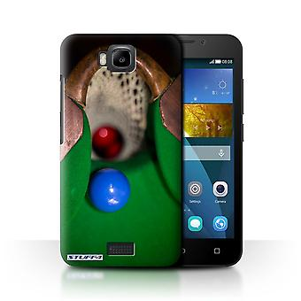 STUFF4 Case/Cover for Huawei Honor Bee/Y5c/Blue Ball/Pocket/Snooker