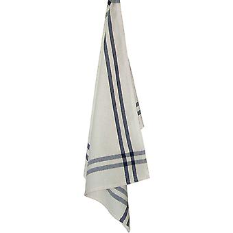 Cream Towel with Navy & Dijon Stripes 20