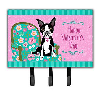 Happy Valentine's Day Boston Terrier Leash or Key Holder VHA3001TH68