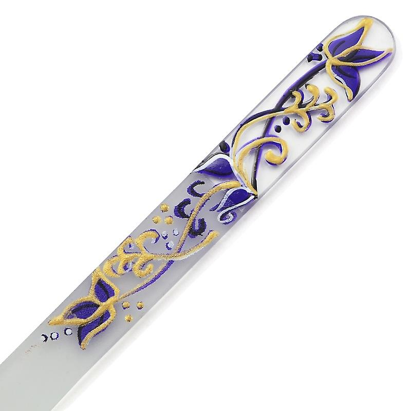 Hand painted glass nail file 303-GM11