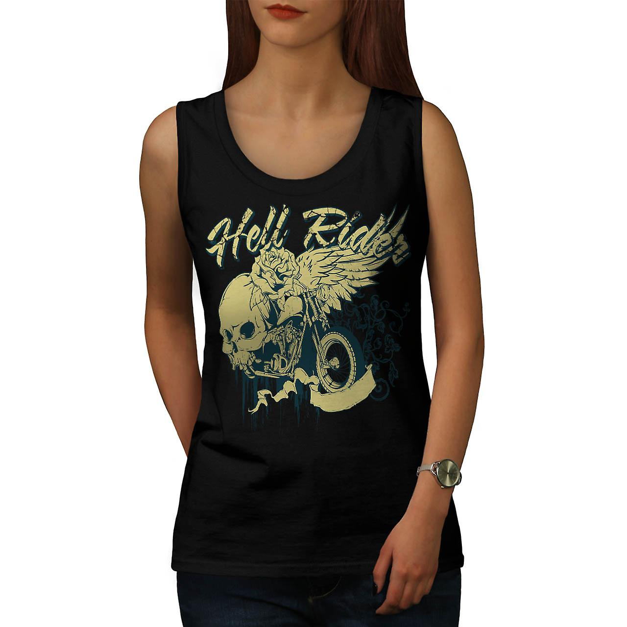 Hell RIder Biker metallo donne Tank Top nero | Wellcoda