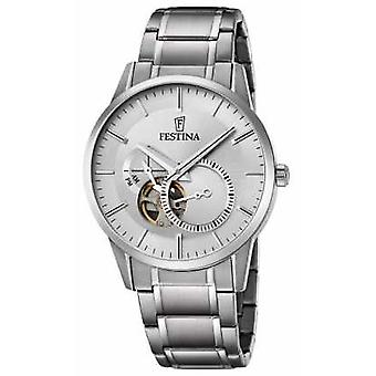 Festina Mens Automatic Stainless Steel Silver Dial F6845/1 Watch