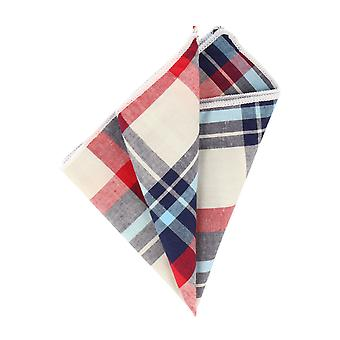 Andrews & co. blue-white-red tartan handkerchief Hanky Cavalier cloth