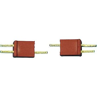 Battery plug, Battery receptacle Micro-T 1 pair Modelcraft 71307