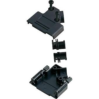 D-SUB housing Number of pins: 15 Plastic 45 ° Black MH Connectors MHD45PPK-15-BK-K 1 pc(s)