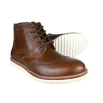 Red Tape Horwood Men's Tan Leather Formal Chukka Boots