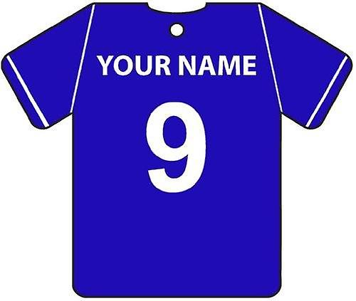 Personalised Portsmouth Football Shirt Car Air Freshener