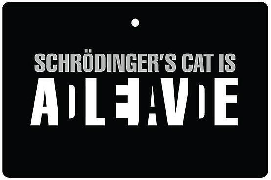 Schrödinger's kat auto luchtverfrisser