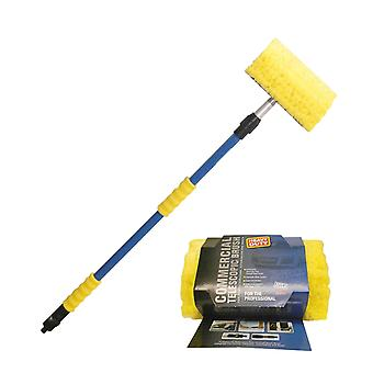 Telescopic Brush 1.8 M with Hose Adapter for Window and Car Cleaning Medium Flow