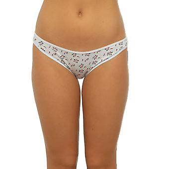 Ladies Anucci Brand Plain-Printed Hi-Leg Brief knickers Underwear 15 Pack
