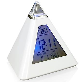 Digiflex 7 LED Pyramid Colour Changing Digital Alarm Clock