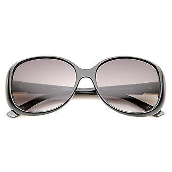 Women's Metal Temple Accent Gradient Lens Square Sunglasses 58mm