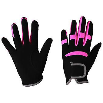 QHP Multi Color Glove Black / Pink (Horses , Rider equipment , Accessories , Glothes)