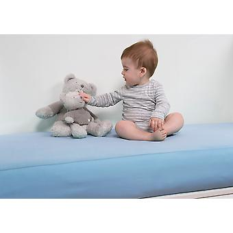 B-sensible Baby Waterproof breathable fitted crib sheet 70x140 Sky blue