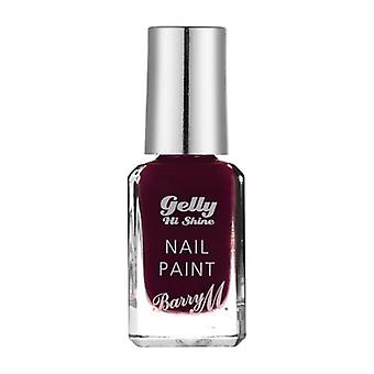 Barry M Barry M Gelly Salut briller ongles peinture Black Cherry