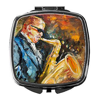 Carolines Treasures  JMK1277SCM Jazz Sazophone Compact Mirror