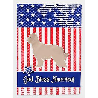 Stati Uniti d'America patriottica dei Pirenei pastore bandiera tela dimensione casa