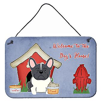 Dog House Collection French Bulldog Black White Wall or Door Hanging Prints