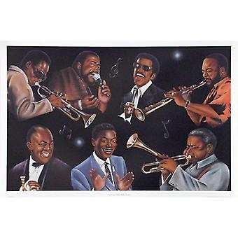 The Greatest of All - Rhythm & Jazz Poster Print by Jerome Brown (36 x 24)