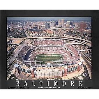 Baltimore Maryland - Ravens Stadium Poster trykk av Mike Smith (28 x 22)