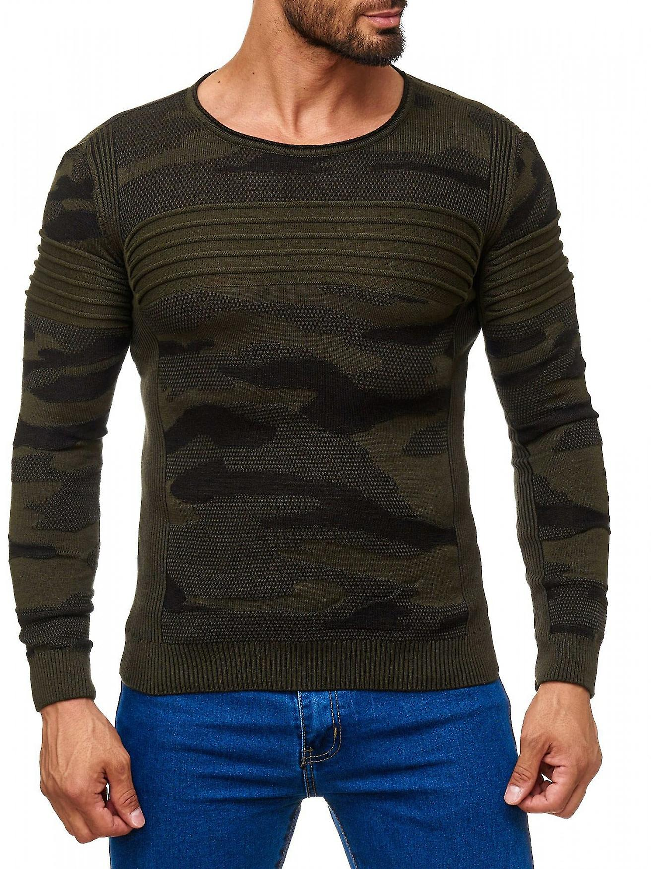 herren pullover camouflage muster o neck longsleeve. Black Bedroom Furniture Sets. Home Design Ideas