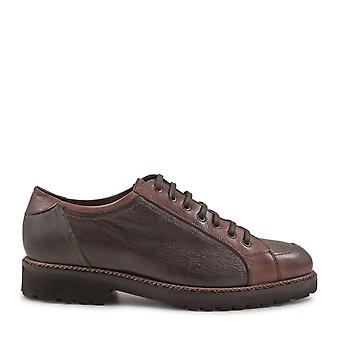 Leonardo shoes men's 4780BOTTOLATO Brown lace-up shoes