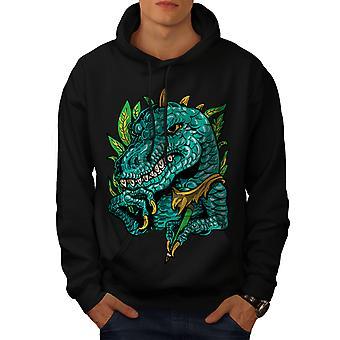 Cool Dinosaur Men BlackHoodie | Wellcoda