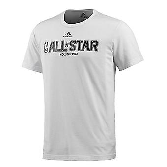 ADIDAS NBA all-star basket mäns t-shirt [vit]