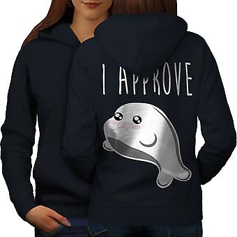 Seal of Approval Women NavyHoodie Back | Wellcoda