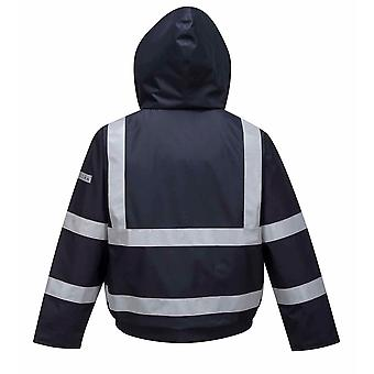Portwest - seguridad ropa de trabajo Bizflame lluvia Multi protección chaqueta