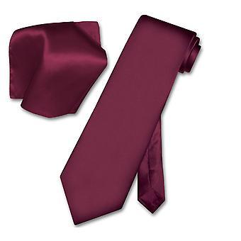 Biagio SILK Solid NeckTie Handkerchief Men's Neck Tie Set