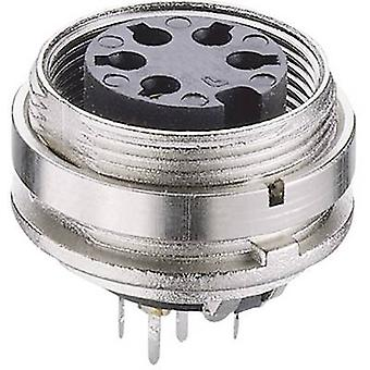 DIN connector Socket, vertical vertical Number of pins: 4 Silver Lumberg KGR 40 1 pc(s)