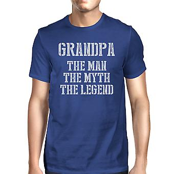 Legend Grandpa Mens Royal Blue Popular Cute Funny T-Shirt Great Gift