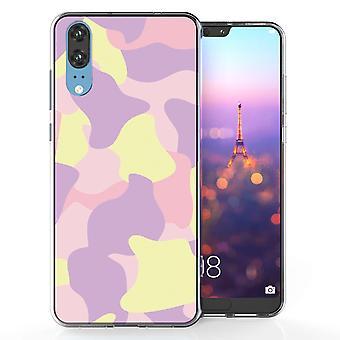 Huawei P20 rosa kamouflage TPU Gel Case