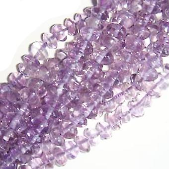 Strand 100+ Lilac Cape Amethyst Approx 3-5mm Plain Rondelle Handcut Beads DW1015
