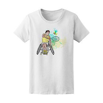 Rullestol Tennis deaktivert Sport Tee kvinners-bilde av Shutterstock