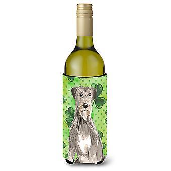 Shamrocks Irish Wolfhound Wine Bottle Beverge Insulator Hugger