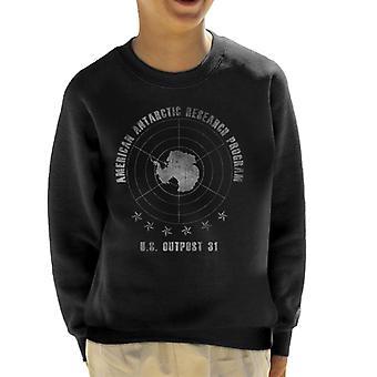 Die Sache amerikanische Antarktis-Forschung Programm Kinder Sweatshirt