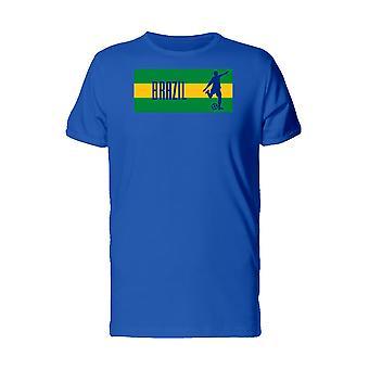 Soccer Player On Brazil Flag Men's Gold T-shirt